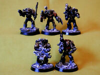 A29 WARHAMMER 40K SPACE MARINES IRON HANDS -PAINTED MARINES X 5