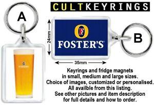 Fosters Lager keyring / fridge magnet - Beer, Alcohol