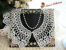 WHOLESALE~6Pcs Victorian Style Tatting Lace Top Collar~White~Wedding/Costume/DIY