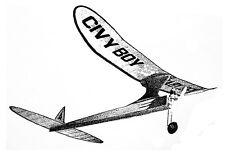 Model Airplane Plans (FF): Civy Boy 51 Class 'A' Engine by Paul Gilliam (1950)