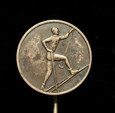 Skiing, 1963 Tartu Marathon, Vintage USSR Soviet Estonia Pin Badge