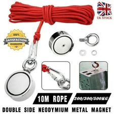 20//40//60kg powerful magnet magnet metal detectors fishing ring 10m rope