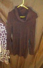 INC International Concepts Women's Turtleneck Sweater Dress Black sz M