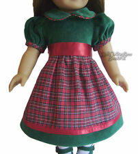 Doll Clothes fits American Girl Velvet & Plaid Holiday Classic Dress