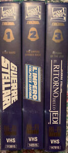 📼 VHS cofanetto (3 VHS) STAR WARS Trilogia Widescreen FOX
