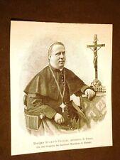 Monsignor Eugenio Cecconi nel 1887 Arcivescovo di Firenze