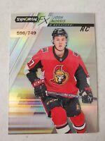Josh Norris 2020-21 UD Synergy FX Rookies #FXR-JN RC 596/749 - Ottawa Senators