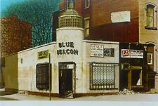 "John Baeder ""Blue Beacon"" 1980 Hand Signed Screenprint photo realist USA art"