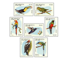NIC8104 Exotic birds, parrots, hummingbirds 7 stamps