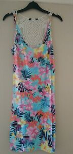 Ladies Summer Beach DRESS COVERUP with LACE back Sizes 8, 10, 12, 18, 22, 24