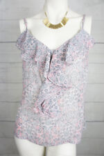 Portmans Womens Top 14 Paisley Ruffle Sheer Cami Singlet Sleeveless Blouse A431