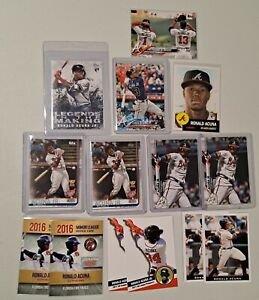 Lot of (14) Ronald acuna Jr ROOKIE 2018 Topps living + holiday #50 + update LITM