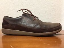 Chaco Java Mens Lowtop Laceup Brown Leather Outdoor Casual Comfort Shoes Sz 9.5