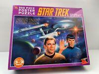 Star Trek Kirk Spock USS Enterprise Large 300 Piece 1993 Poster Puzzle 3' x 2'