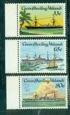 Cocos Islands 1985  Cable-laying Ships   3 values  MNH