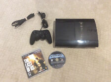Ps3 Super Slim 230 GB Hard Drive W/  Controller & 2 Games