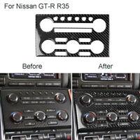 Carbon Fiber Dashboard Control Panel Cover Trim For Nissan GT-R R35 2008-2016