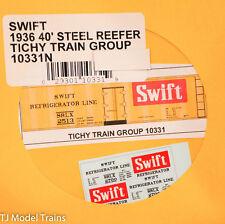 Tichy Train Group Decal #10331N SWIFT 1936 40' Steel Reefer (Decal)