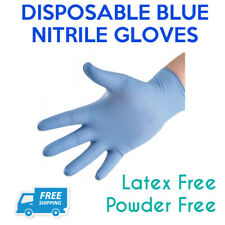 Blue Nitrile Disposable Gloves Powder Free Medical PPE Size L