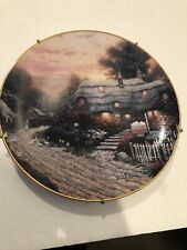 knowles collector plates Thomas Kinkade's Olde Porterfield Tea Room Plate 16357A