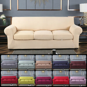 Replacement Sofa + Seat Cushion Cover Set Couch Slip Covers Stretchy Protector