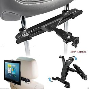 Universal In Car Back Seat Headrest Holder Mount Cradle For 7 To 11 Inch Tablets