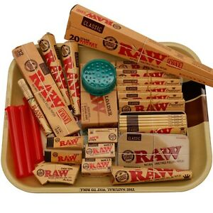 RAW Rolling Tray Large Gift Set Fully Loaded 35 Items Variety Pack