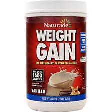 Naturade Weight Gain (No Sugar Added) Vanilla 40.6 oz