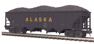 MTH Trains ~ Alaska 4 Bay Hopper Cars w/ Coal Loads ~ 20-97592 SEALED Set of 2