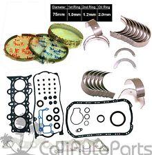 01-05 Honda Civic 1.7L D17A1 SOHC Full Set Rings Main Rod Bearings *RE-RING KIT*