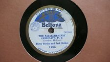 Harry Gordon and Jack Holden, The Parliamentary Candidate, 78rpm, Rarität