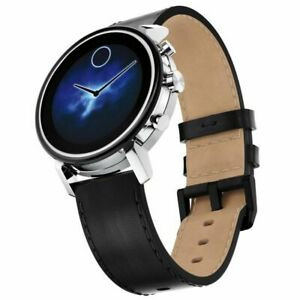Movado Connect 2 Unisex Powered Wear OS by Google Leather Smartwatch 3660028