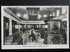 London WESLEY'S CHAPEL Pulpit and Organ - Old RP Postcard by Bedford Lemare