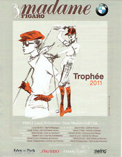 PUBLICITE ADVERTISING 125  2011  Trophée Evian masters de golf club