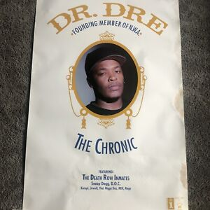 "RARE! Dr. Dre ""The Chronic"" PROMO Poster Death Row Records 1992 💨"