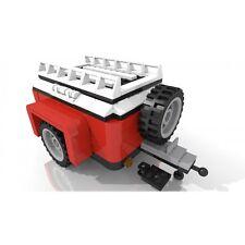 Roter Camper Gepäck Camping Anhänger für LEGO 10220 VW Bulli T1 Volkswagen