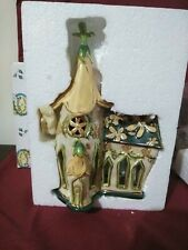 "Clayworks by Blue Sky Church of Yellow Flax by Heather Goldminc Ceramic 9"""