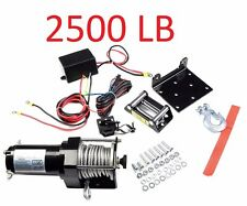 2500 Lb Winch Electric ATV 4-Wheeler Plow 12V Truck Trailer Boat 3000 Pound New