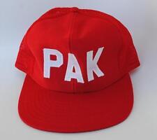 PAK One Size Fits All Snapback Flat Brim Mesh-Back Trucker Baseball Cap Hat