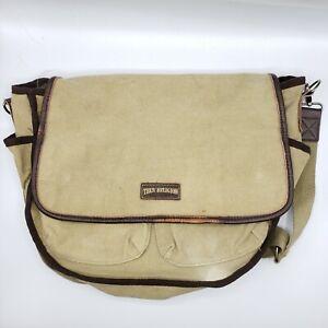 True Religion Messenger Bag Color Olive One Size