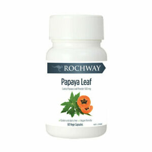 3 x ROCHWAY Papaya Leaf Extract 500mg 60 capsules