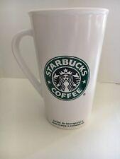 "Starbucks 2006 Mug Tall Latte Grande ""TO GO"" White with Green Mermaid LOGO"