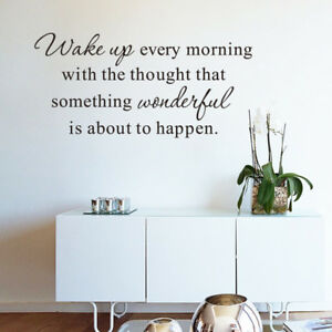 Family Home Family Wake Up Wall Stickers Art Dining Bedroom Room Removable Decal