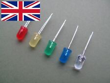 5mm LED green blue white yellow red Diffused High Brightness Diode 10-100 pcs UK