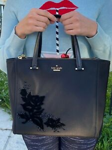 Kate Spade New York Black Dawn Place Embellished Small Kona NWT