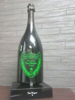 DOM PERIGNON CHAMPAGNE LED LUMINOUS ILLUMINATED DISPLAY BOTTLE STAND 75CL GREEN