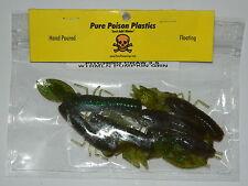 Pure Poison Plastics hand poured fishing bait (pitchin craw 3.5 wtrmln pumpkin)