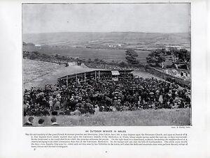 1897 Victorien Imprimé~Calvinistic Methodists~Extérieur Service En Galles