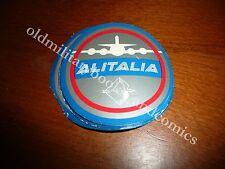 ALITALIA 3 VECCHIO ADESIVO OLD AIRLINE STICKER ALT FLUGLINIE AUFKLEBER 1970?