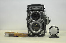 Rolleiflex 2.8F 12x24 Planar TLR Film Camera with Cap & Strap